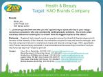 health beauty target kao brands company