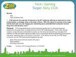 tech gaming target sony coa