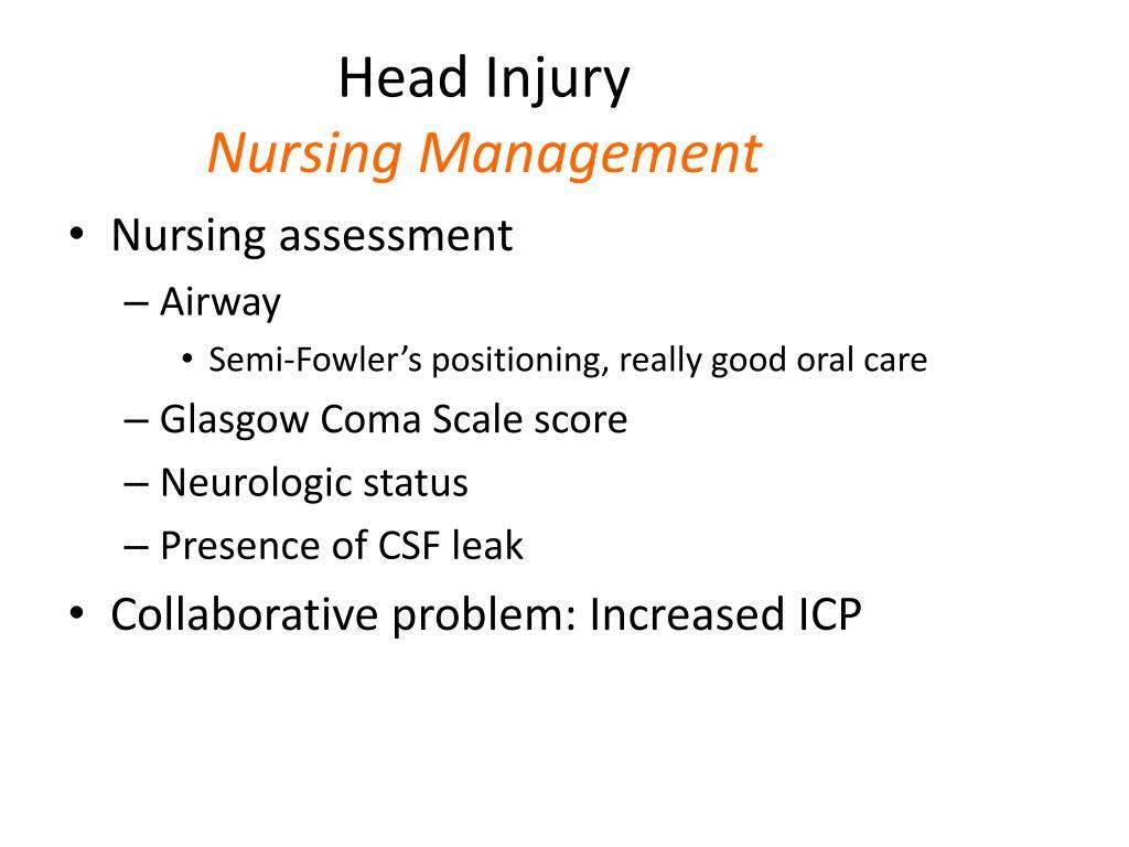 PPT - Traumatic Head Injury PowerPoint Presentation, free ...