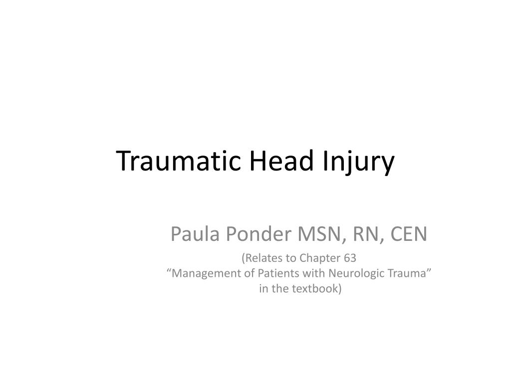 traumatic head injury l.