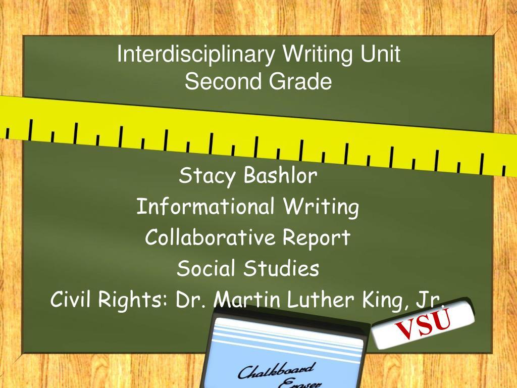 interdisciplinary writing unit second grade l.
