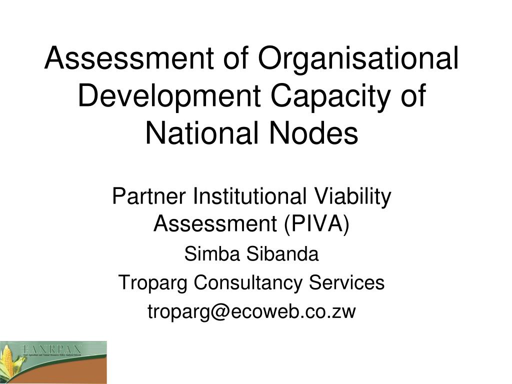 assessment of organisational development capacity of national nodes l.