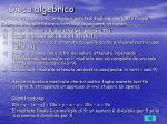 gioco algebrico