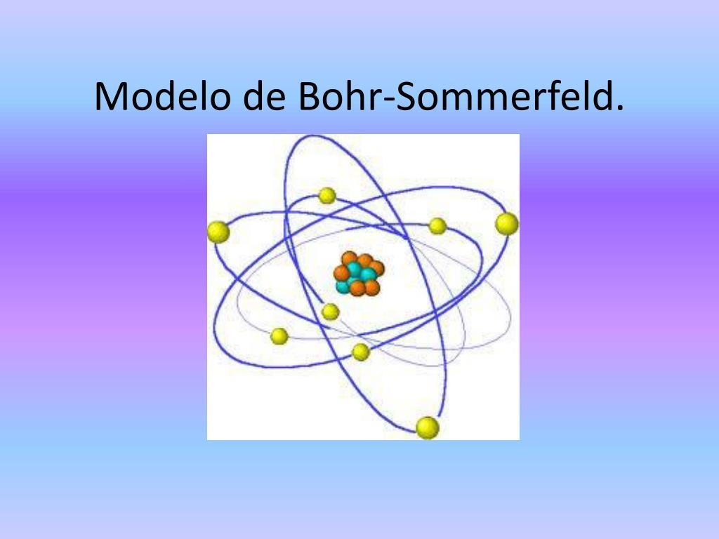 modelo de bohr sommerfeld l.