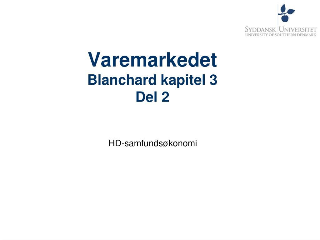 varemarkedet blanchard kapitel 3 del 2 l.