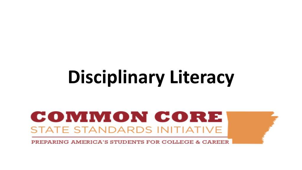 disciplinary literacy l.