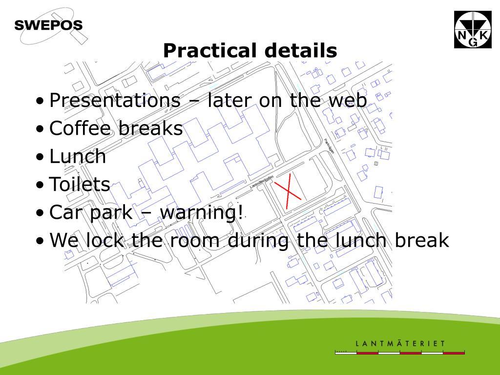 practical details l.