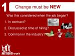 change must be new17