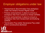 employer obligations under law