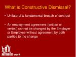 what is constructive dismissal9