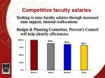 competitive faculty salaries