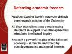 defending academic freedom