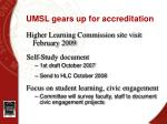 umsl gears up for accreditation