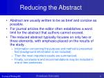 reducing the abstract