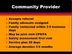community provider