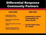 differential response community partners