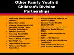 other family youth children s division partnerships