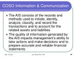 coso information communication