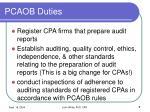 pcaob duties