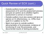 quick review of sox cont5