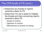 the cpa audit of fs cont18