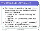 the cpa audit of fs cont19