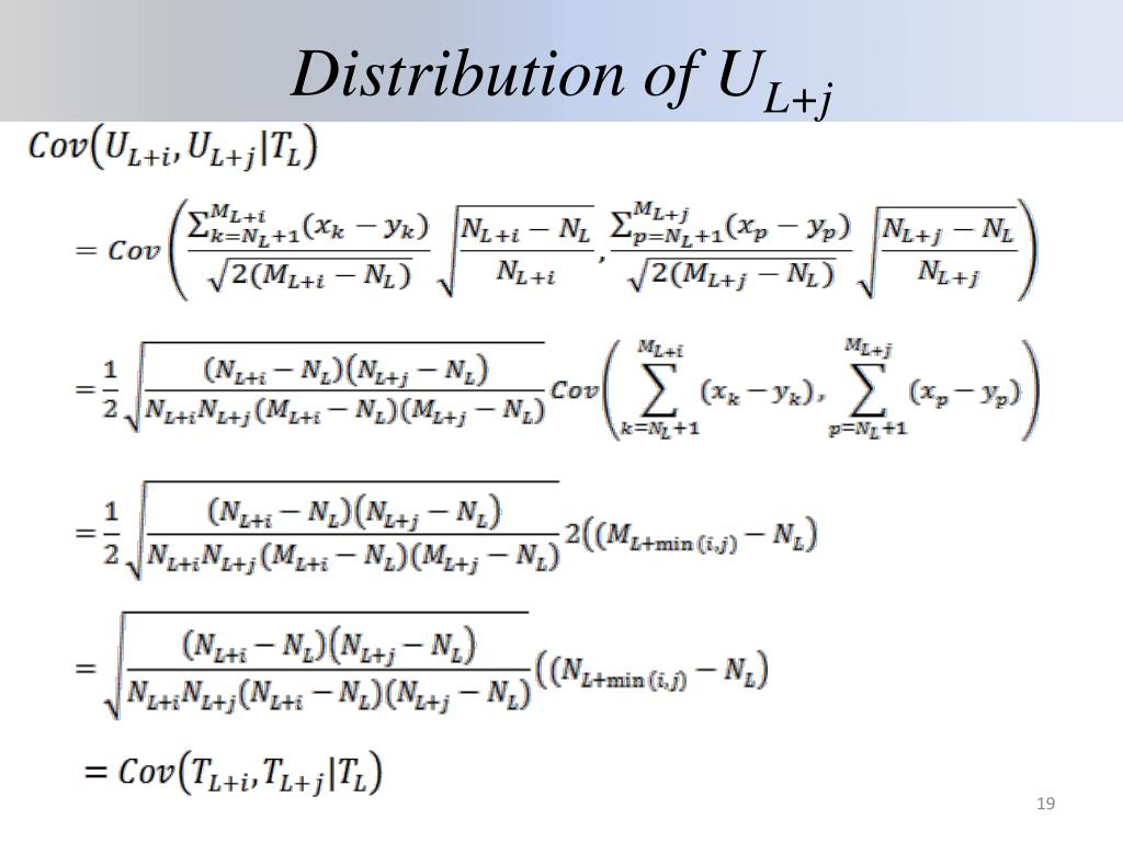 Distribution of U