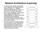 network architecture layering