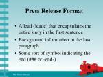 press release format1