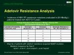 adefovir resistance analysis