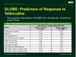 globe predictors of response to telbivudine