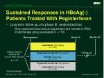 sustained responses in hbeag patients treated with peginterferon