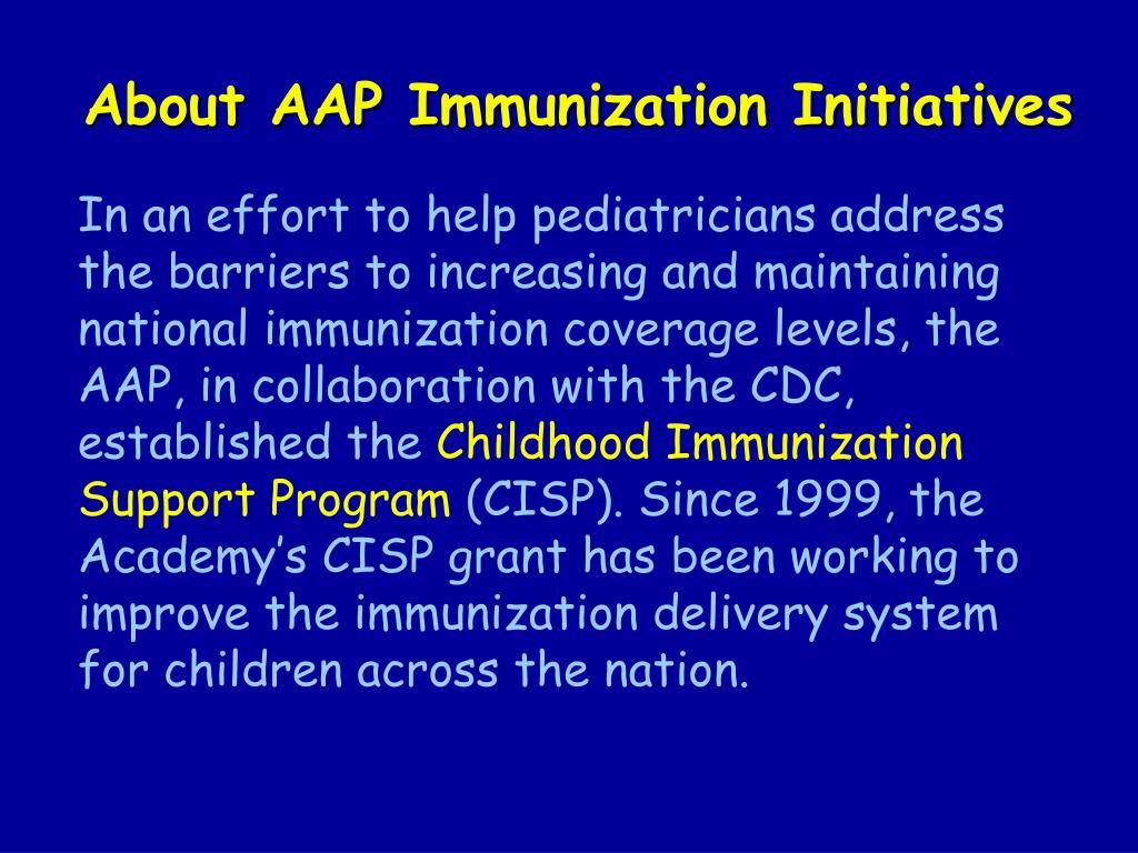About AAP Immunization Initiatives