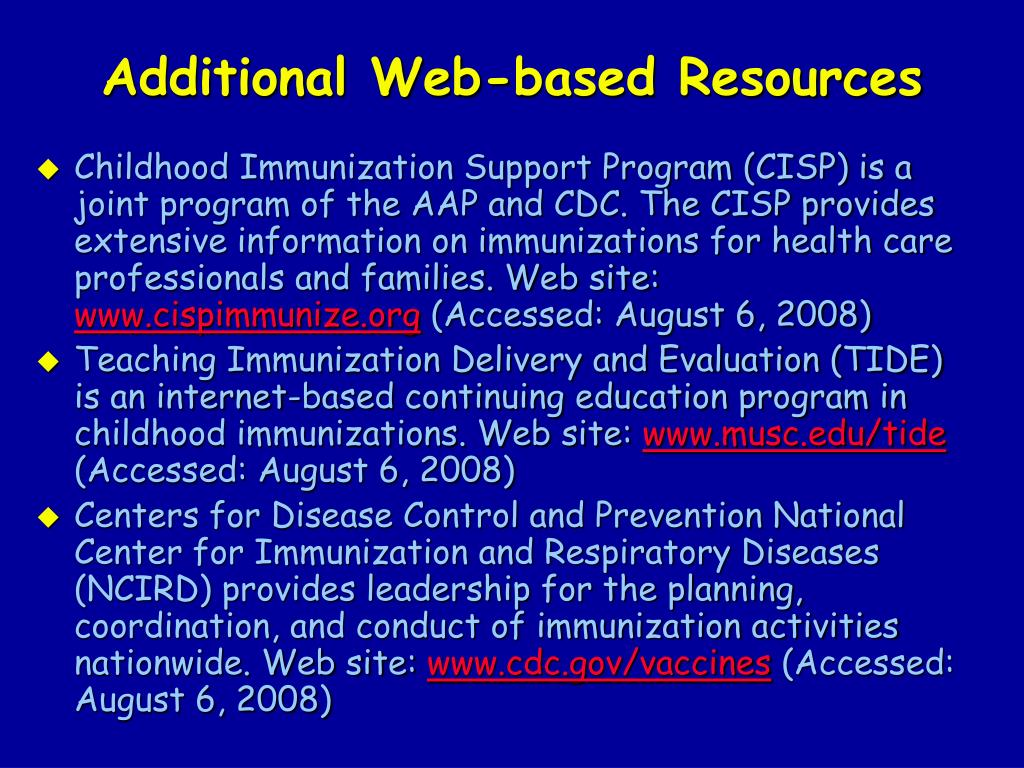 Additional Web-based Resources