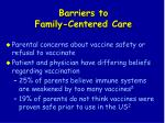 barriers to family centered care