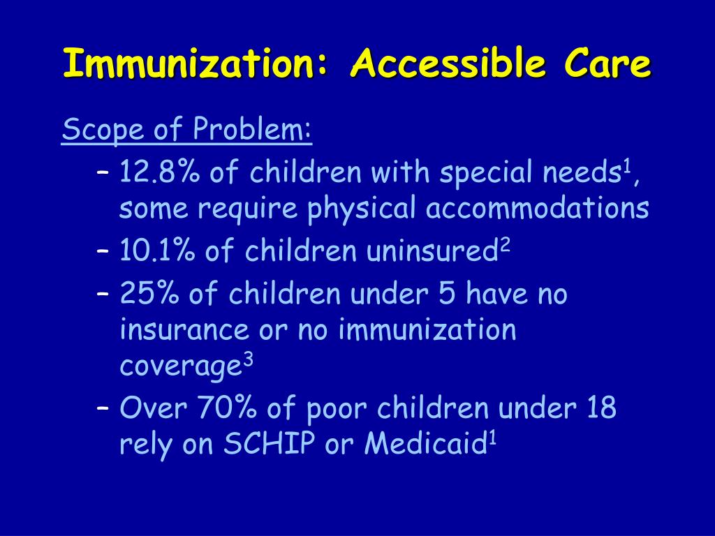 Immunization: Accessible Care