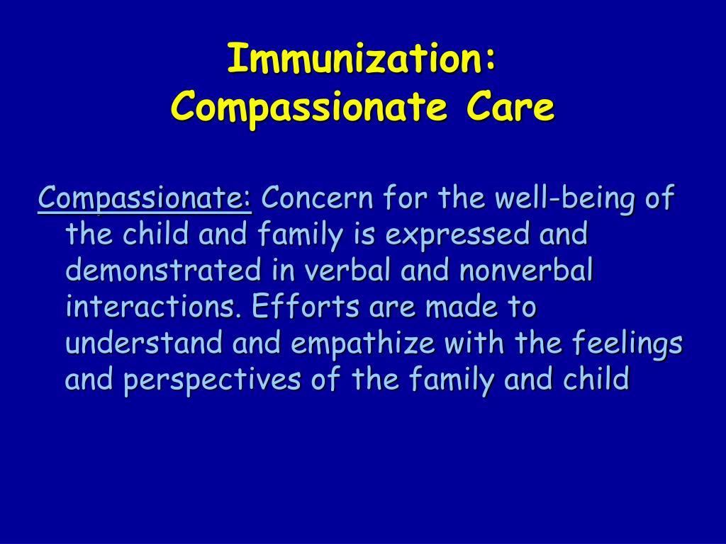 Immunization: