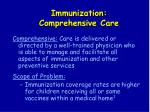 immunization comprehensive care