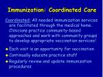 immunization coordinated care