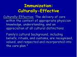 immunization culturally effective