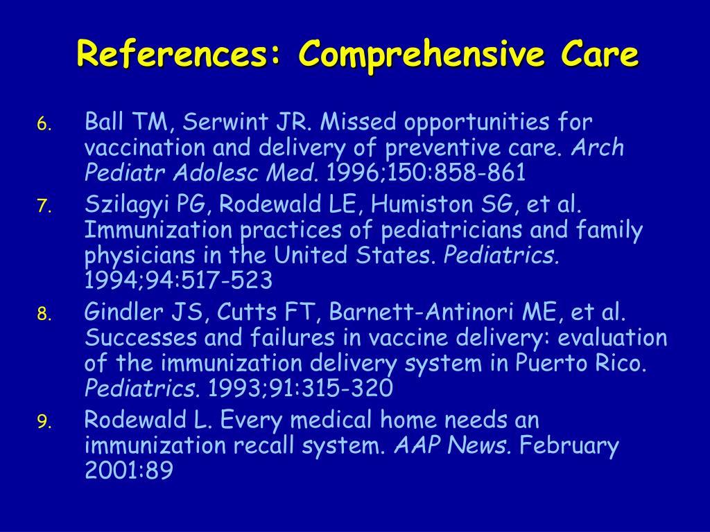 References: Comprehensive Care