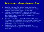 references comprehensive care77
