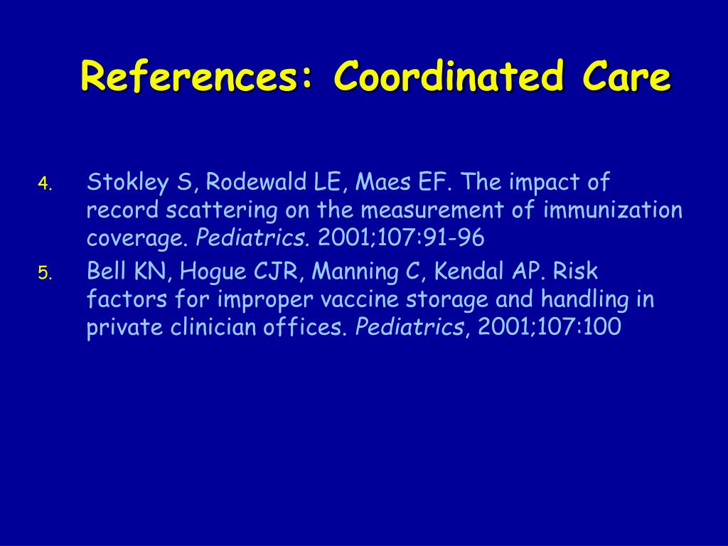 References: Coordinated Care