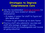 strategies to improve comprehensive care72