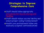 strategies to improve comprehensive care74