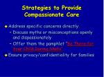 strategies to provide compassionate care114