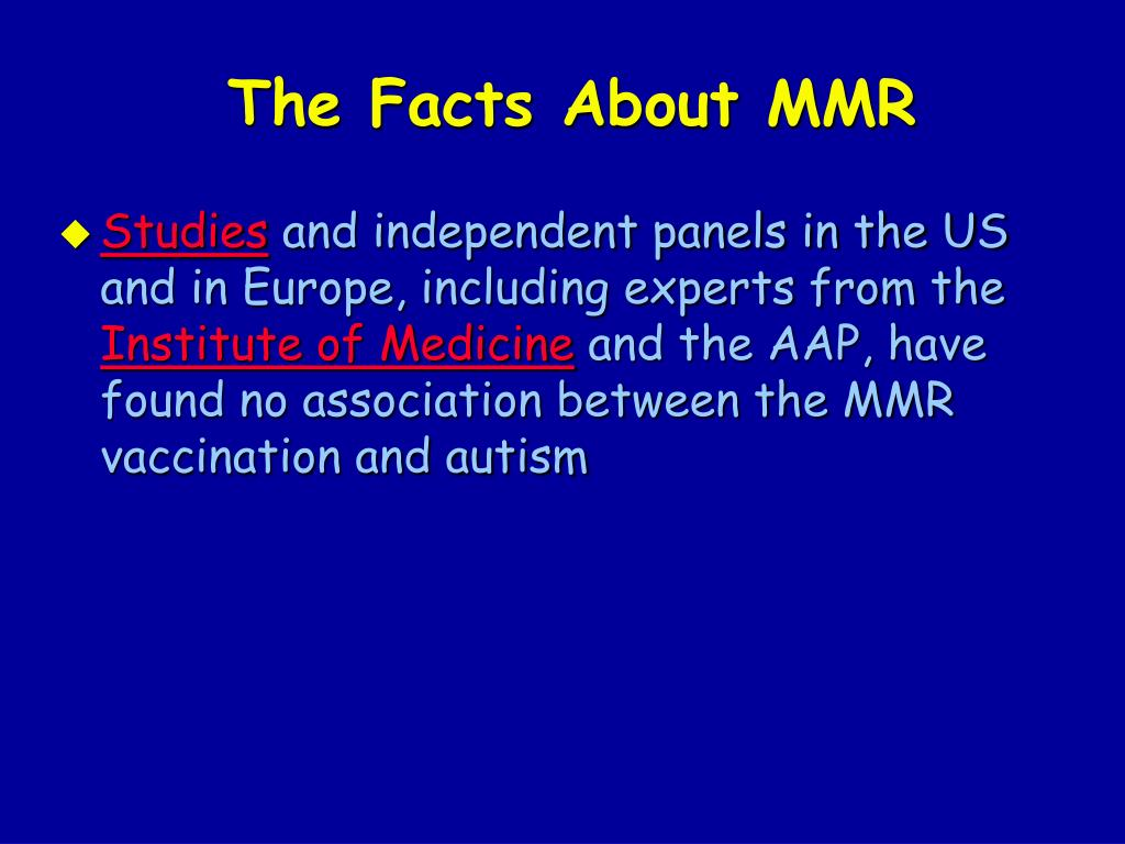 The Facts About MMR
