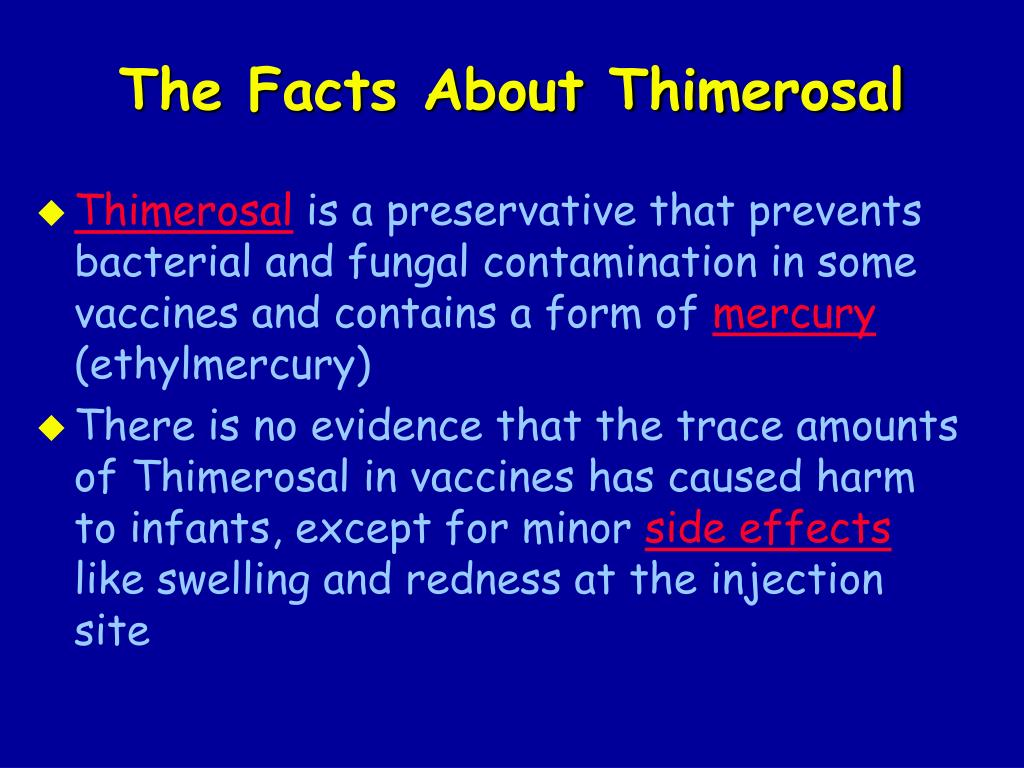 The Facts About Thimerosal
