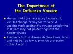 the importance of the influenza vaccine95