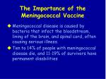 the importance of the meningococcal vaccine
